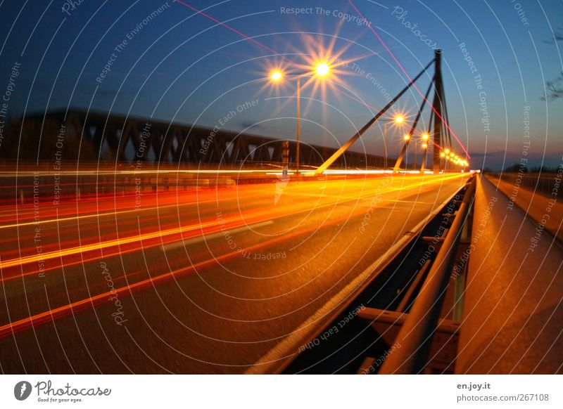Blue Red Street Movement Gold Transport Speed Bridge Driving Street lighting Traffic infrastructure Highway Mobility Road traffic Laws and Regulations