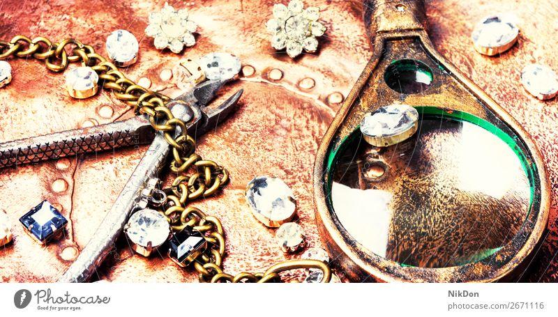 Making of handmade jewellery chain craft necklace gold metal silver fashion jewelry stone bead diamond luxury pendant accessory gem precious bracelet shiny gift
