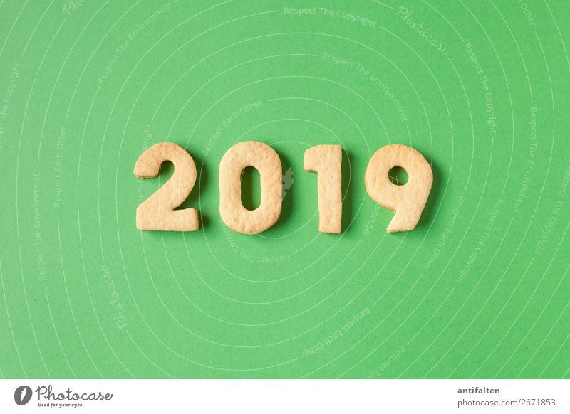 2019 will be green Dough Baked goods Candy Cookie cut out cookies Nutrition To have a coffee Leisure and hobbies Baking Vacation & Travel Hiking