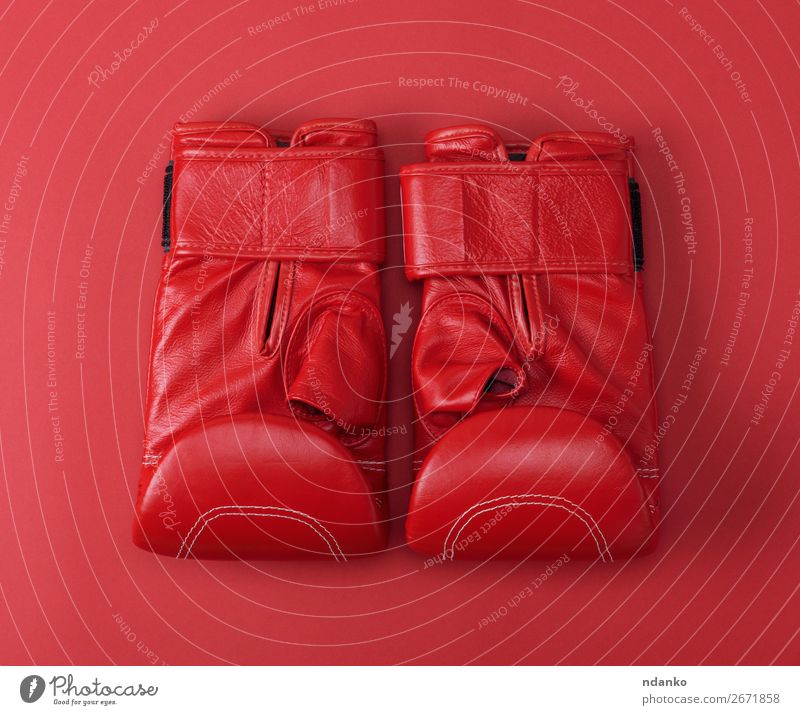 new red sport leather boxing gloves Lifestyle Fitness Sports Clothing Leather Gloves New Above Red Protection Colour Idea Competition background boxer Boxing
