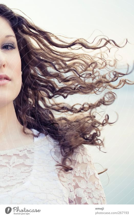 Human being Youth (Young adults) Beautiful Adults Feminine Hair and hairstyles Young woman 18 - 30 years Curl Swing Airy