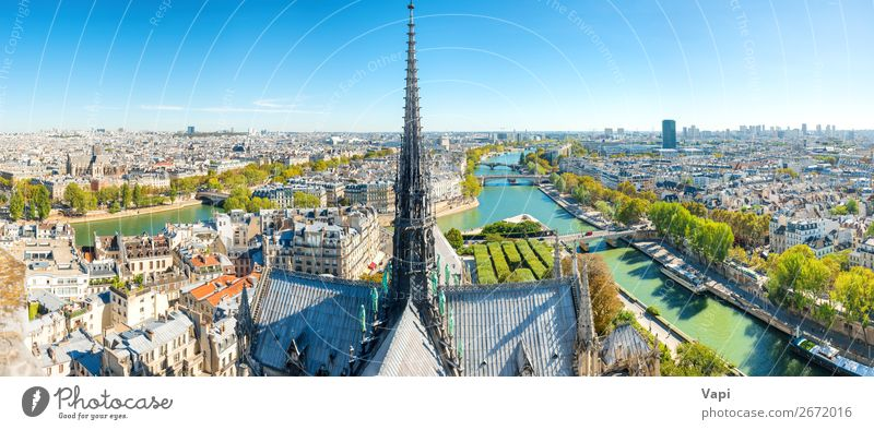 Panorama view from Notre Dame de Paris de Paris Beautiful Vacation & Travel Tourism Trip Adventure Far-off places Freedom Sightseeing City trip Summer vacation