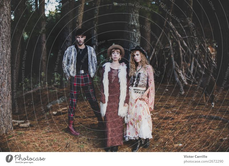 A group of Friends Standing in the Woods Human being Masculine Feminine Young woman Youth (Young adults) Young man Woman Adults Man Family & Relations