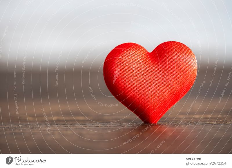 Red heart. Valentines Day concept. Valentines Day background. Colour Beautiful Healthy Wood Love Emotions Happy Health care Feasts & Celebrations Design