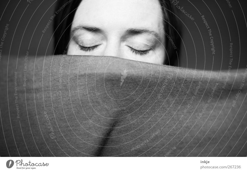 Human being Woman Calm Face Adults Relaxation Eyes Life Emotions Dream Moody Sleep Protection Mysterious Fatigue Blanket