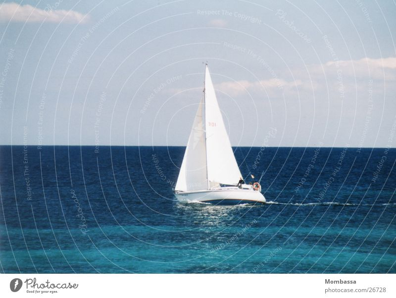 sailing torn Sailboat Dinghy Navigation blue water