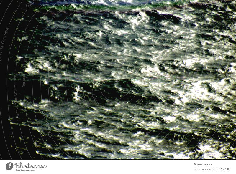 The dark sea Ocean Waves Dark Dusk Water