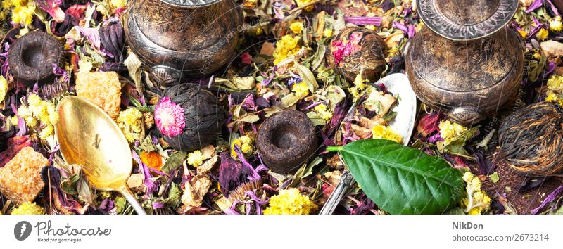 Healthy herbal tea background healthy leaf flower drink green natural dry organic aroma beverage chinese antioxidant aromatic petal food hibiscus breakfast