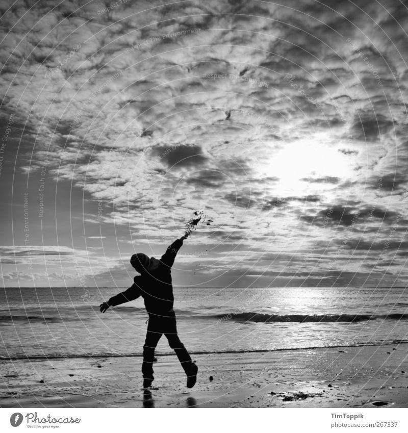 Borkum Bounce #3 Ocean Vacation & Travel North Sea coast North Sea Islands North Sea beach East frisian island Sky Clouds in the sky Sunset Playing Throw