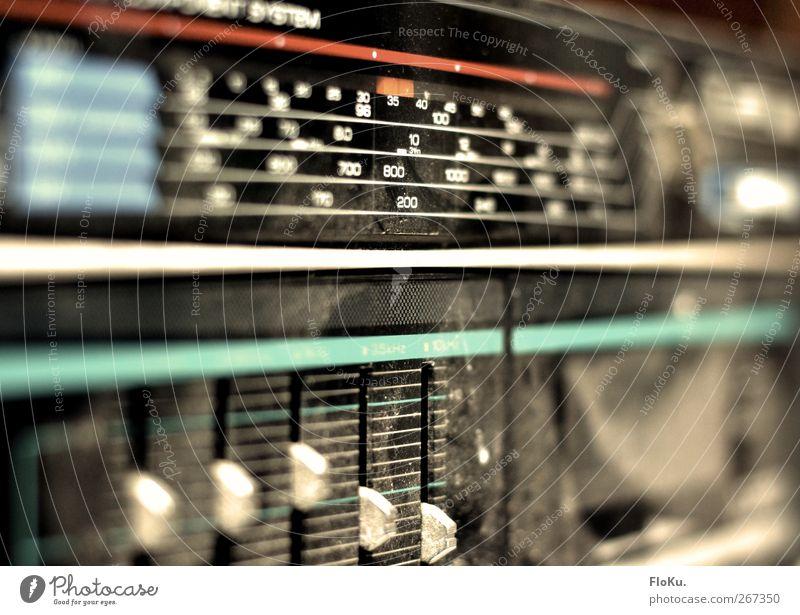 Old Black Music Dirty Broken Retro Technology Plastic Media Trashy Radio (device) Radio (broadcasting) Old fashioned Archaic Dusty Radio reception