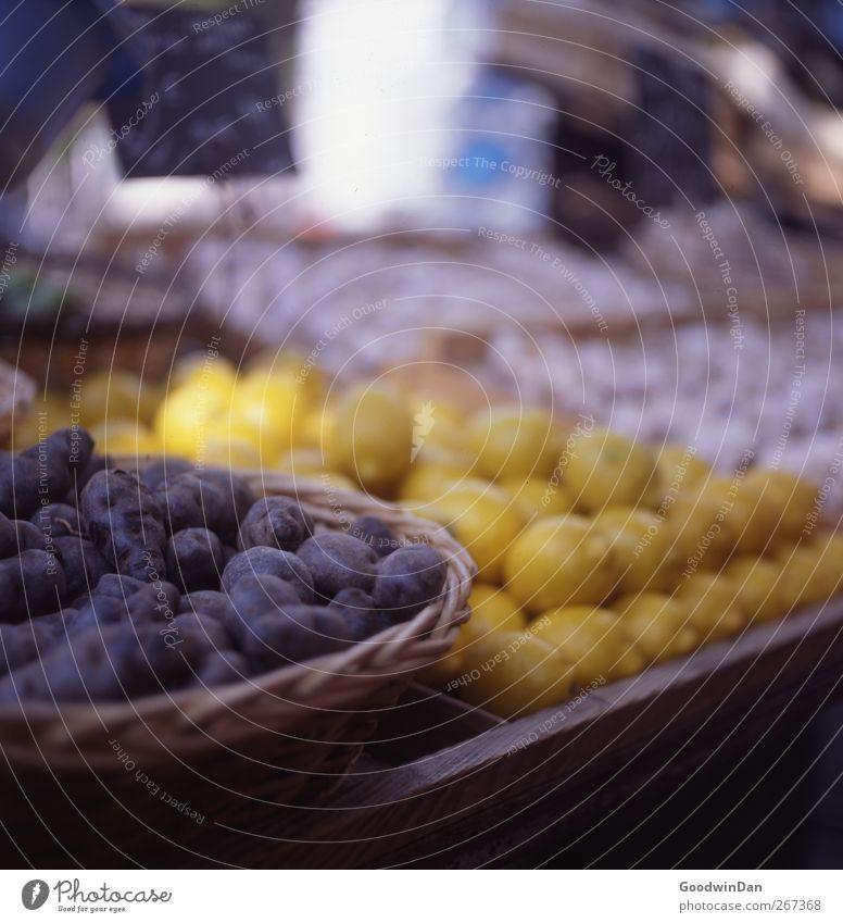 Nutrition Food Fresh Good Many Delicious Lemon Cheap Potatoes Market stall