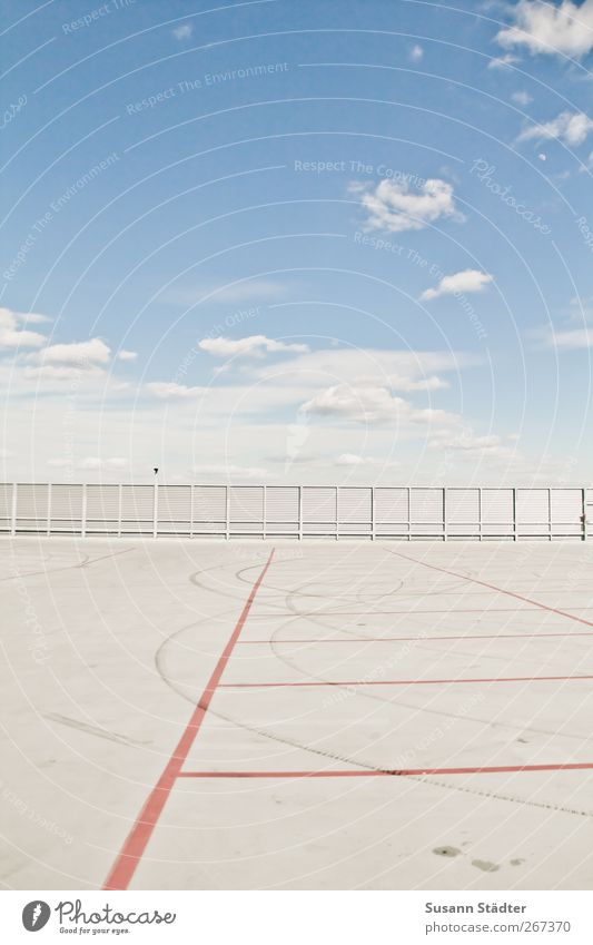Space. Deserted Bank building Places Airport Terrace Roof Traffic infrastructure Free Parking garage Parking lot Search for a parking space