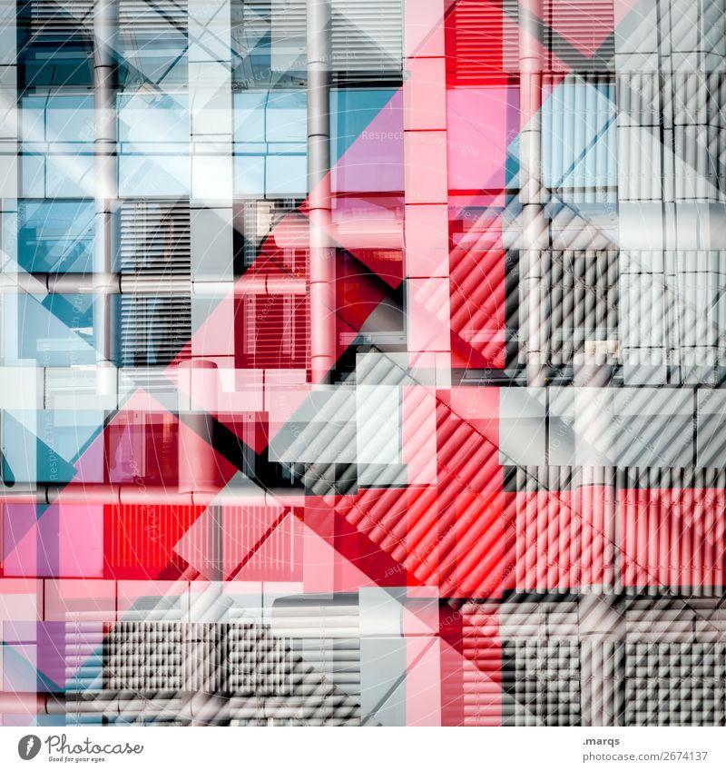 Blue Red Window Architecture Lifestyle Style Exceptional Facade Gray Design Line Modern Elegant Arrangement Perspective Uniqueness