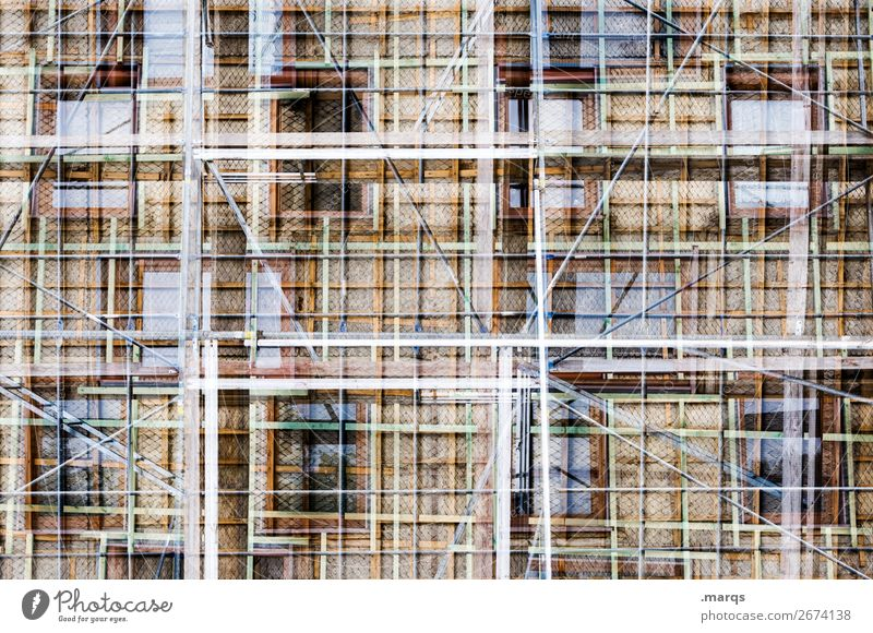 modernization Style House (Residential Structure) Manmade structures Building Architecture Facade Window Scaffold Exceptional New Many Crazy Uniqueness Complex