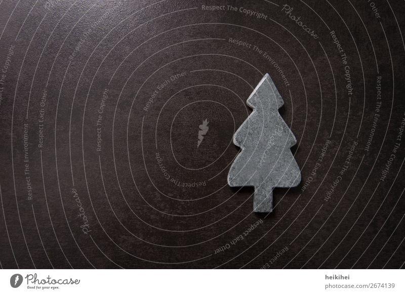 O Christmas tree Art Tree Stone Symbols and metaphors Simple Modern Gray Black Decoration Christmas & Advent christmas Embellish Card Invitation Design