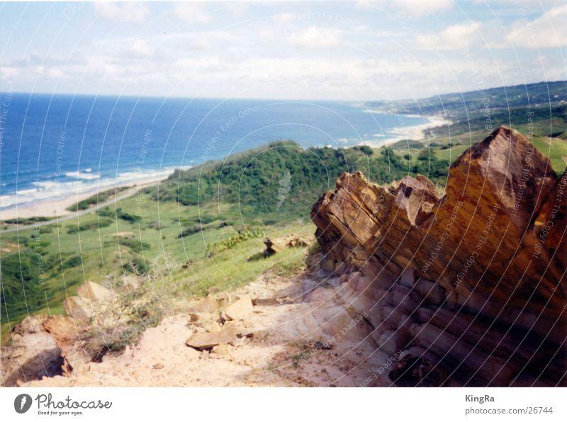 Barbados 2 Green Ocean Brown South America Rock Stone Blue Vantage point Valley