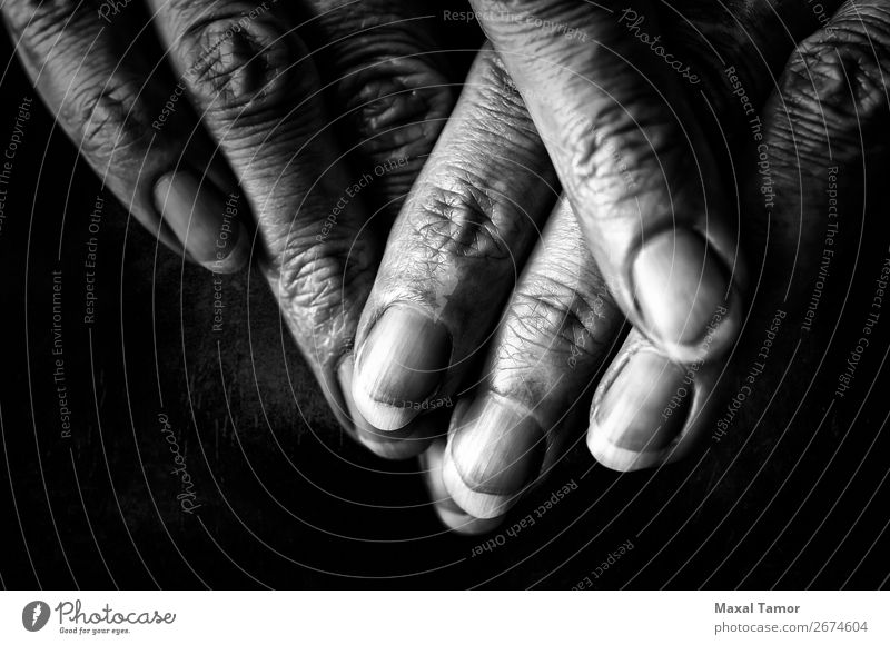 Woman's fingers on dark Beautiful Body Skin Human being Adults Hand Fingers Old Dark Natural Strong Black Power aggressive background care Caucasian