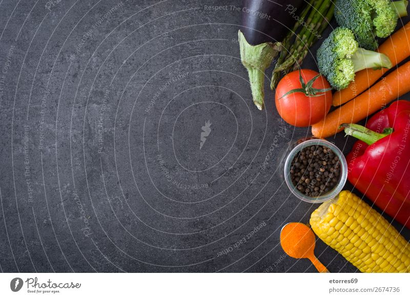 Healthy eating.food diet.vegetables on black stone. Mediterranean Diet Healthy Eating Food Food photograph Vegetable Fish Grain Nut Olive Oil Vitamin Lettuce