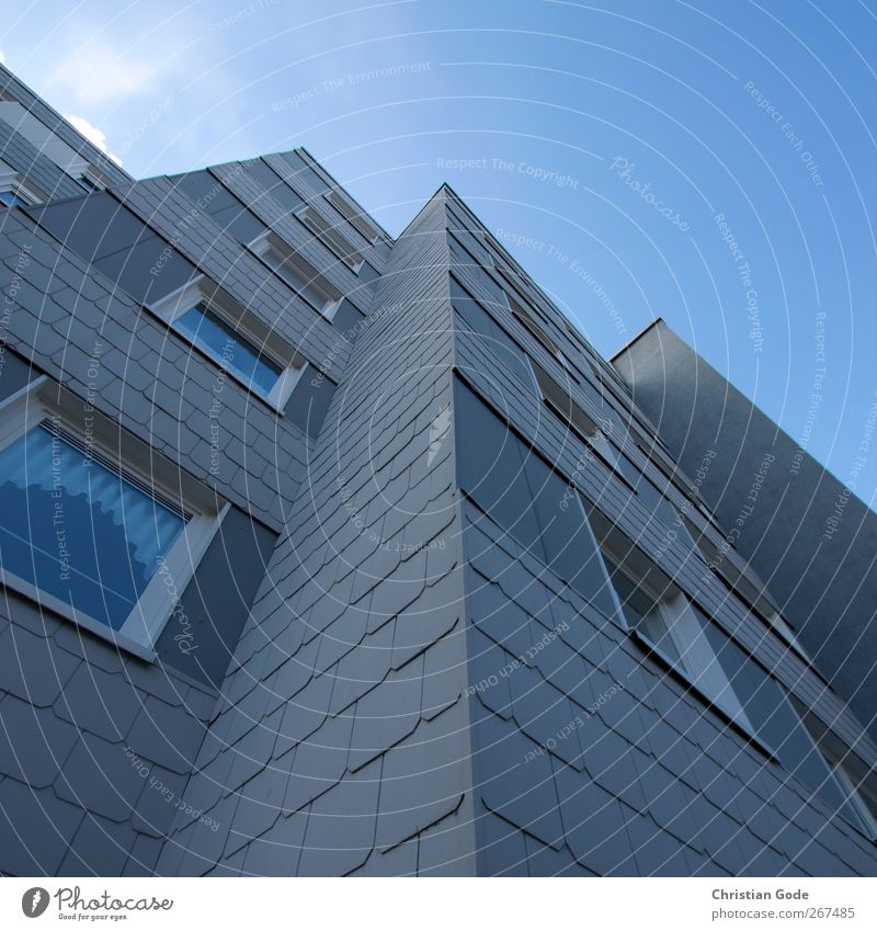 skystormer Town Deserted High-rise Manmade structures Building Architecture Wall (barrier) Wall (building) Facade Window Target Slate slate plates Housefront