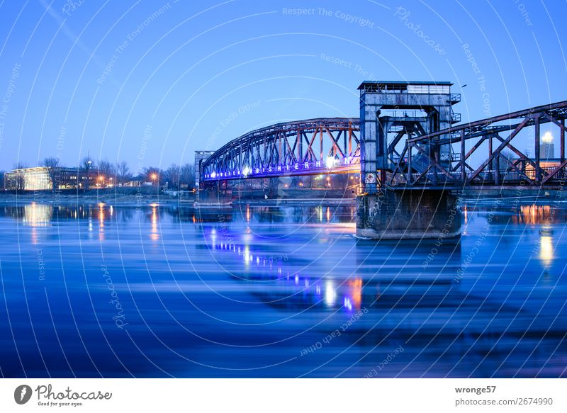 Old Blue Town Beautiful Winter Cold Art Germany Europe Technology Romance Bridge Historic Downtown Monument Traffic infrastructure