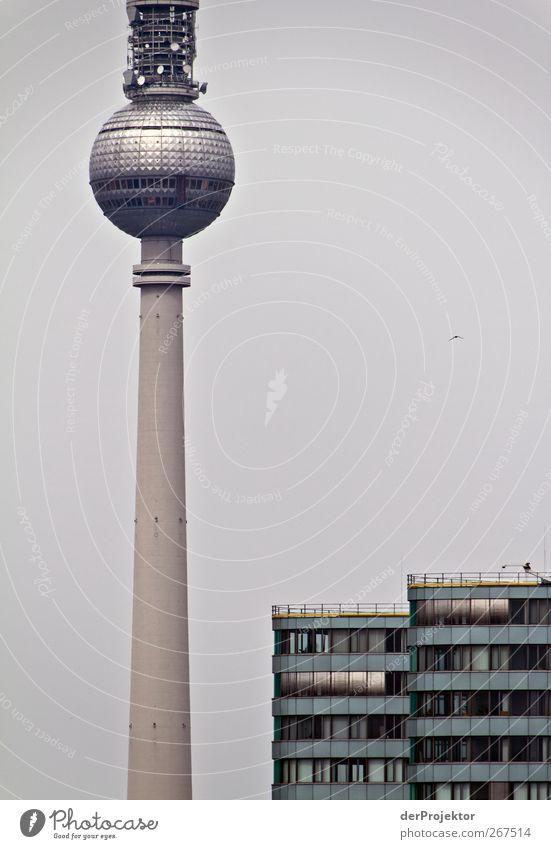 Dark Berlin Facade High-rise Authentic Tower Telecommunications Technology Thin Skyline Landmark Tourist Attraction Capital city Television tower Alexanderplatz