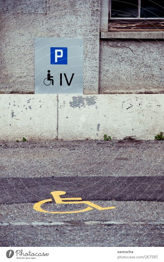 disability parking space Life Small Town Downtown Old town Detached house Places Building Wall (barrier) Wall (building) Facade Transport Passenger traffic