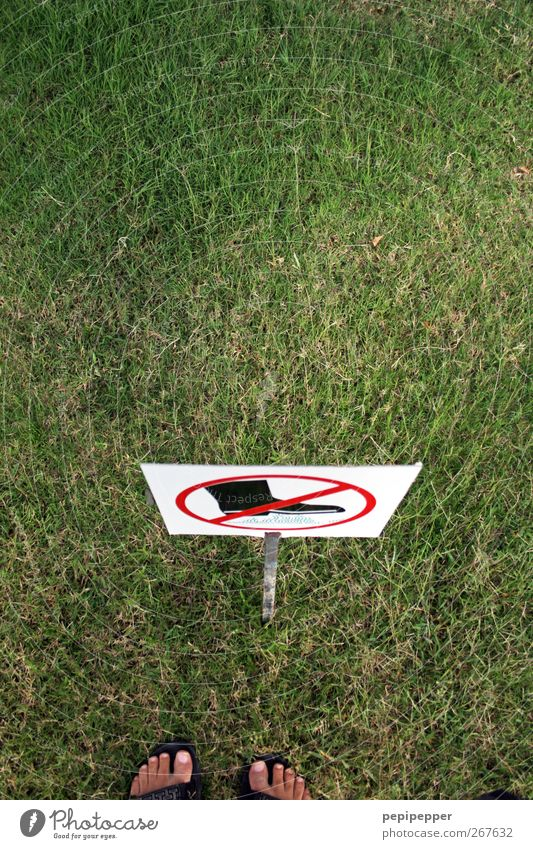 Human being Man Green Adults Meadow Grass Garden Feet Park Footwear Signs and labeling Stand Signage Boots Bans