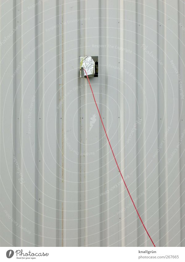 City Red Wall (building) Above Gray Wall (barrier) Facade Energy industry Cable Contact Sharp-edged Aluminium