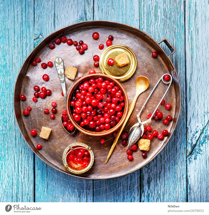 Berries of cranberries for tea cranberry ingredient food fruit fresh ripe juicy organic healthy vitamin autumn vegetarian heap sugar raw tray cowberry pile