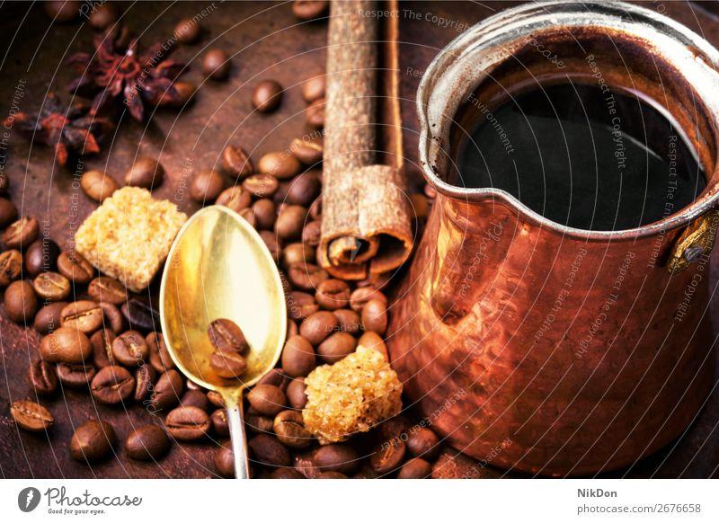 Vintage coffee pot cezve drink beverage brown turkish caffeine vintage style hot arabic copper cafe dark espresso retro cafeteria oriental aroma bronze arabica