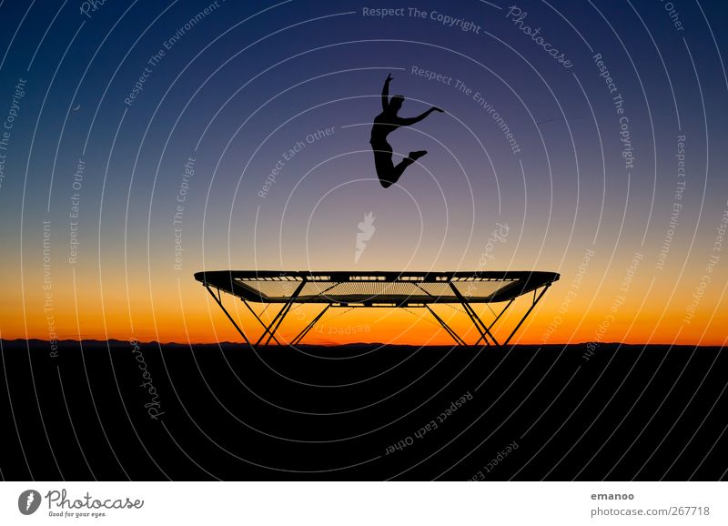 trampoline silhouette Lifestyle Style Joy Healthy Athletic Leisure and hobbies Vacation & Travel Summer Sports Fitness Sports Training Sportsperson Human being