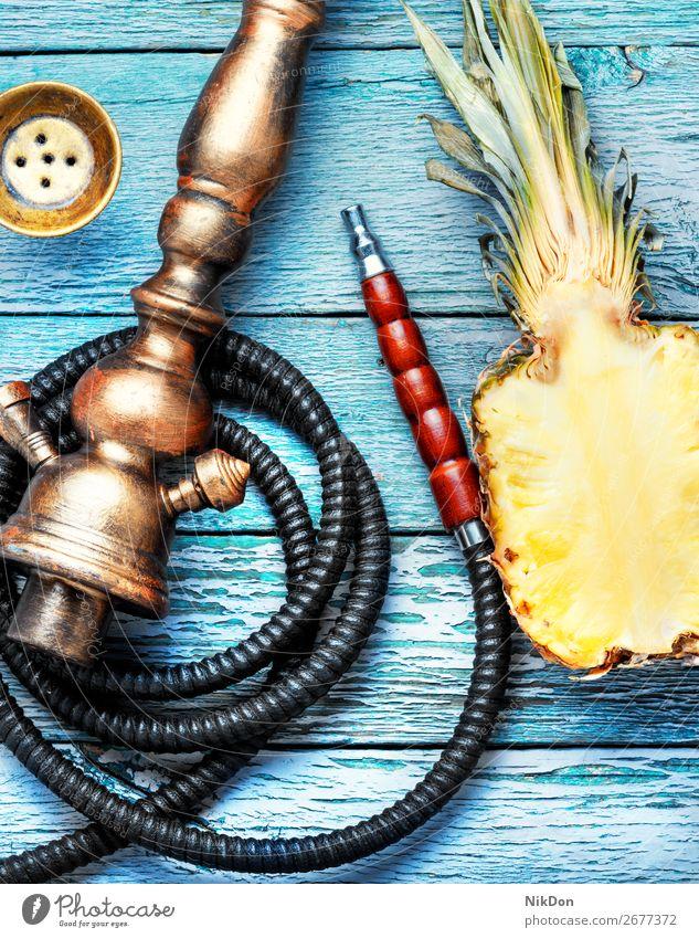 Shisha hookah with pineapple tobacco fruit smoke bowl shisha smoke shisha mouthpiece hookah pipe relaxation hookah lounge arabic turkish east style arabia