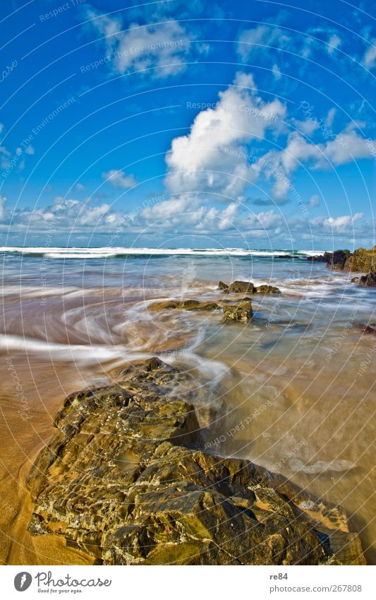 In the course of the tides. Harmonious Relaxation Vacation & Travel Freedom Summer Beach Ocean Island Waves Environment Nature Landscape Elements Sand Water Sky