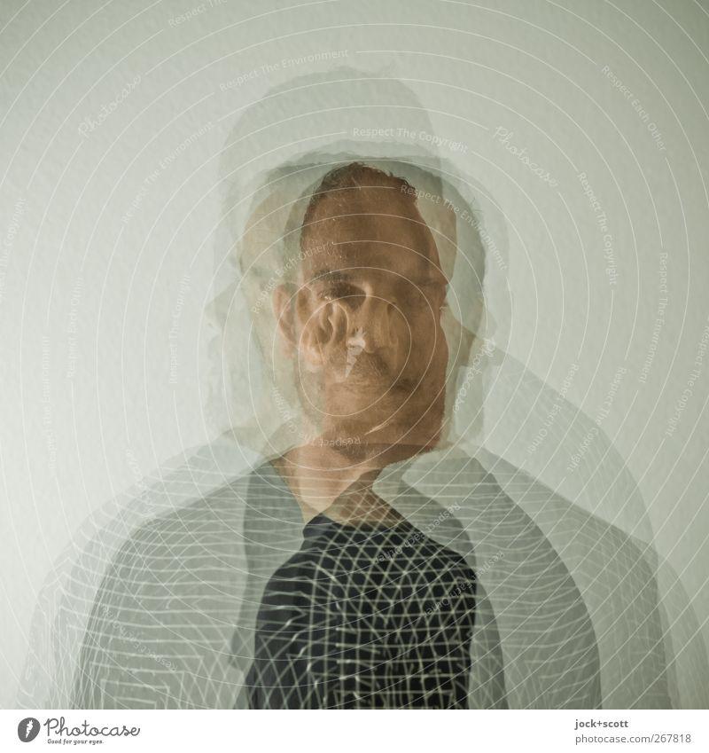 schematic portrait Masculine Man Adults Head 1 brunette Line Movement Rotate Nerdy Acceptance Humanity Flexible Identity Uniqueness Creativity Self portrait