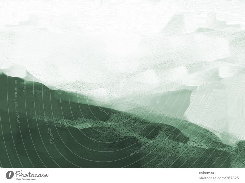 painting Design Art Work of art Painting and drawing (object) Image Painted Structures and shapes Landscape Green White Background picture
