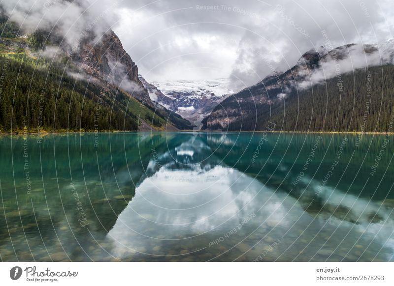glacial lake Vacation & Travel Trip Far-off places Environment Nature Landscape Elements Sky Clouds Autumn Climate Climate change Fog Mountain Glacier Lake
