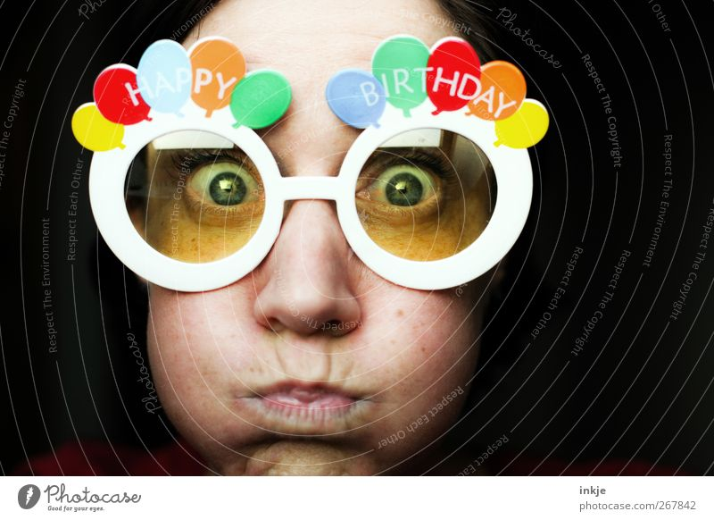old Swede... FOURTY???? Lifestyle Joy Leisure and hobbies Feasts & Celebrations Birthday Face 1 Human being 30 - 45 years Adults Balloon Eyeglasses
