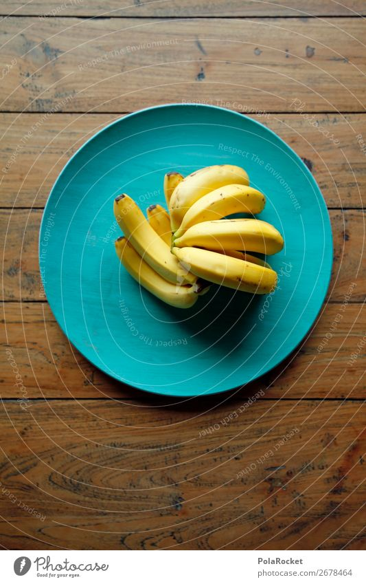 #AS# Bananaaaaaaaa Food Eating Table Wood Yellow Banana skin Fruit Healthy Eating Many Blue Cozy Consciousness Esthetic Vintage Colour photo Interior shot
