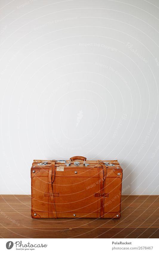 #AS# Suitcase seeks Partner Leather Esthetic Travel photography Traveling Nostalgia Vintage Preparation Travel excitement Grasp Logistics Itinerary