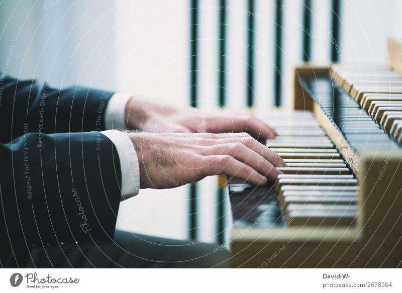 organist Leisure and hobbies Playing Human being Masculine Young man Youth (Young adults) Man Adults Life Hand Fingers 1 Art Artist Culture Music