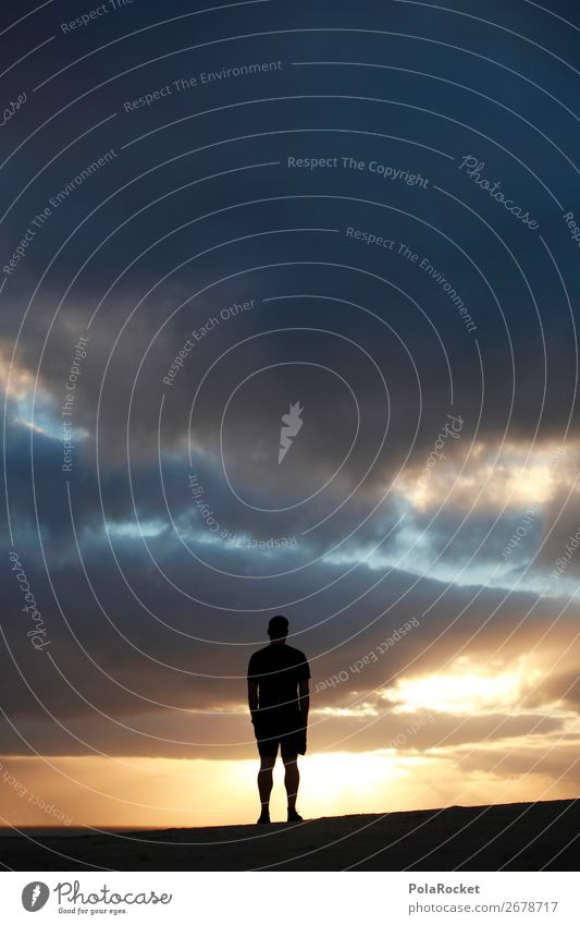 #AS# future Human being Masculine 1 Art Esthetic Sky Heaven Sky blue Skyward Compass point Future Futurism Fear of the future Forward-looking