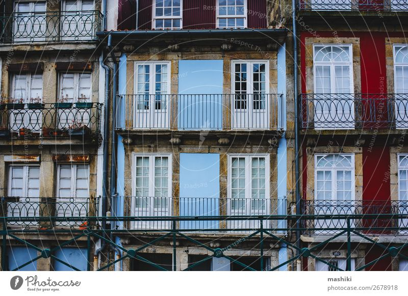 traditional facades of old houses in Porto, Portugal Beautiful Vacation & Travel Tourism House (Residential Structure) Culture Town Downtown Building