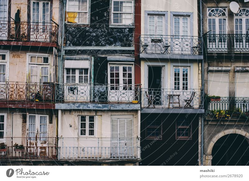 view of old house facades in Porto, Portugal Vacation & Travel Old Town Colour Beautiful House (Residential Structure) Street Architecture Building Tourism