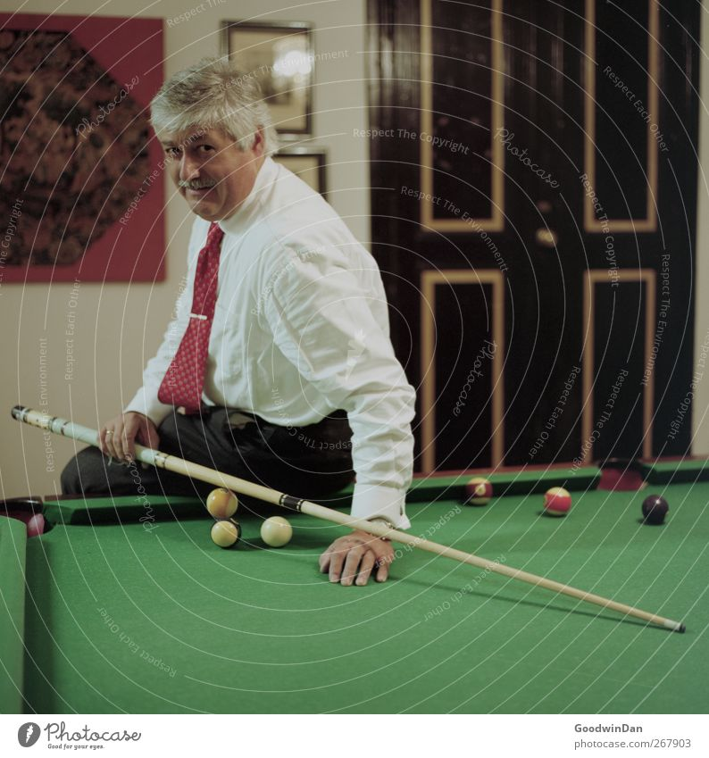 [500] Genetic prediction. Human being Masculine 1 billiard Relaxation Smiling Sit Authentic Moody Contentment Colour photo Interior shot Artificial light Light