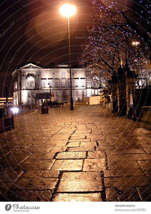 Street Lamp Dark Moody Lighting Lantern Sidewalk England Great Britain Liverpool