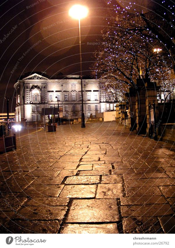 streetlight Liverpool England Great Britain Lamp Sidewalk Light Lighting Reflection Night Dark Lantern Long exposure Street Moody
