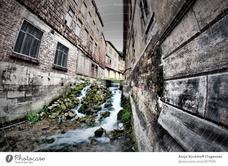 City House (Residential Structure) Wall (building) Wall (barrier) Building Facade River Factory Manmade structures Village Hut Whimsical Ruin Brook Waterfall