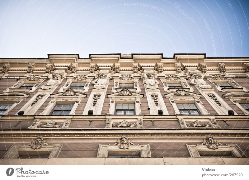 fishing wall Building Architecture Hotel Wall (barrier) Wall (building) Facade Safety (feeling of) St. Petersburgh Window Angel Stucco Colour photo