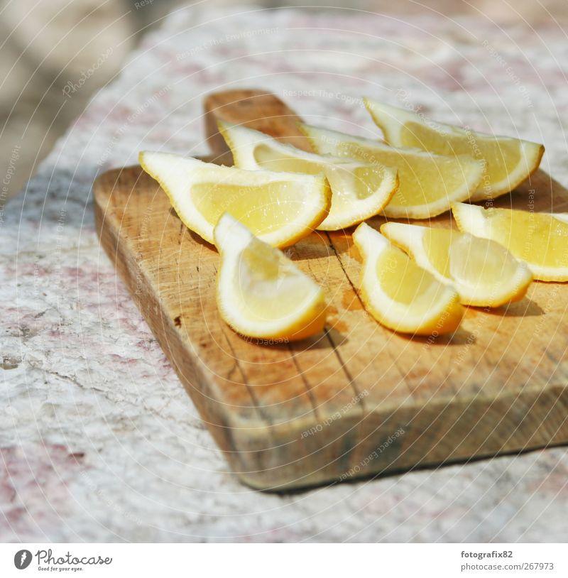 Yellow Nutrition Life Food Stone Fresh Exotic Lemon Majorca Chopping board Summer's day Citrus fruits