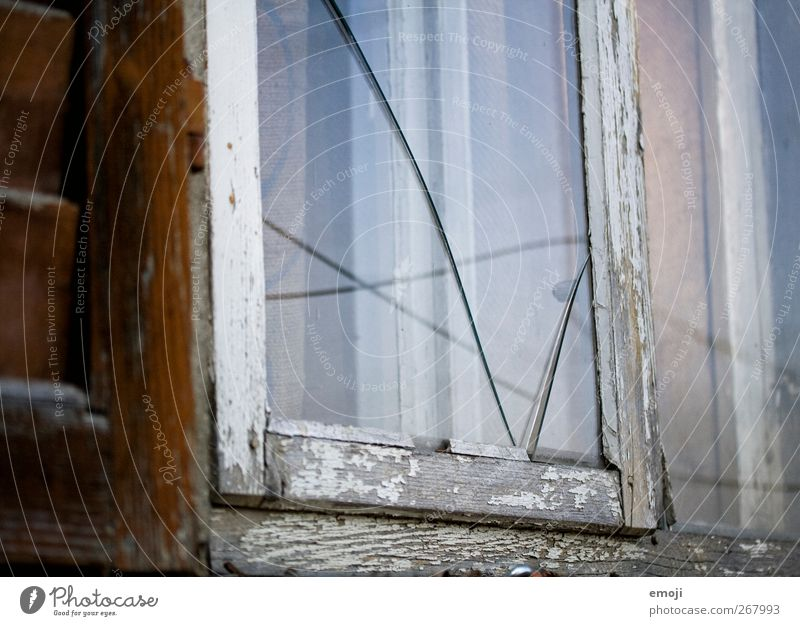 Old Window Wall (building) Wall (barrier) Glass Facade Broken Crack & Rip & Tear Window pane Pane Shard